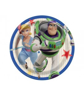 "8 Disney Toy Story 4 Round 7"" Dessert Plates"