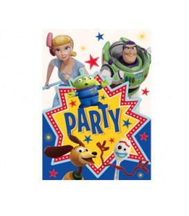 8 Disney Toy Story 4 Invitations