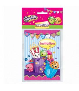 8 Shopkins Invitations
