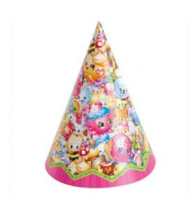 8 chapeaux de fête SHOPKINS