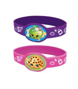 4 bracelets extensibles SHOPKINS