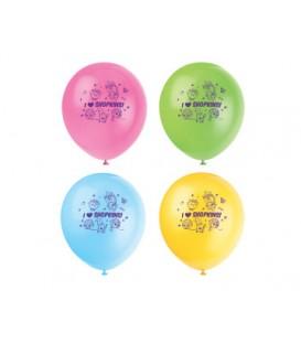 "8 Shopkins 12"" Latex Balloons"