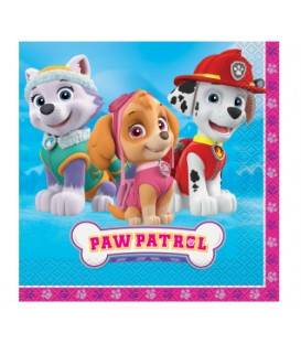 16 Paw Patrol Girl Luncheon Napkins