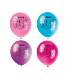 8 ballons en latex PAW PATROL FILLE