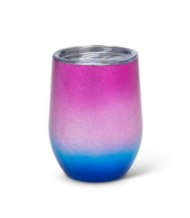 BEVI 12oz Pink & Blue Insulated Wine Glass