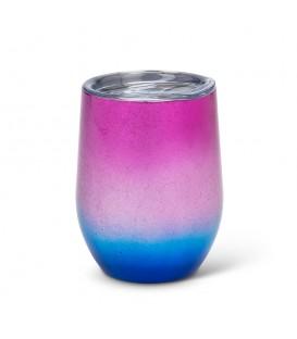 BEVI- Verre à vin isolé rose et bleu 12 oz