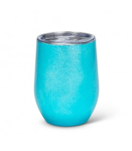 BEVI 12oz Turquoise Insulated Wine Glass