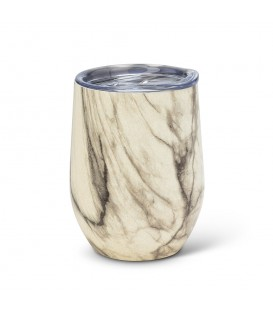 BEVI- 12oz Marble Insulated Wine Glass