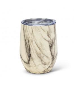 BEVI- Verre à vin isolé marbre 12 oz
