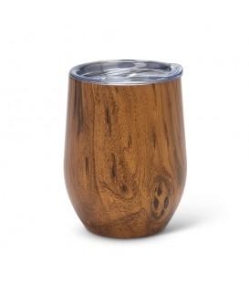 BEVI- 12oz wood Insulated Wine Glass