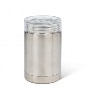 BEVI - 12 oz silver insulated glass