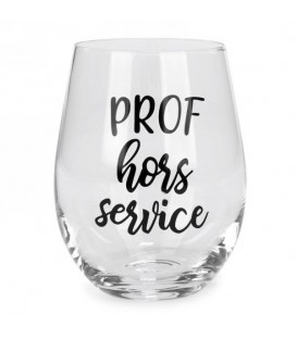 Wine glass without stem-Prof hors service...