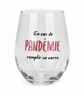 Wine glass without stem-Pandémie...