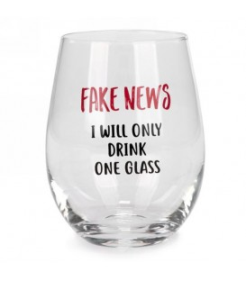 Wine glass without stem-Fake news...english
