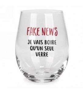 Verre à vin sans pied-Fake news...francais