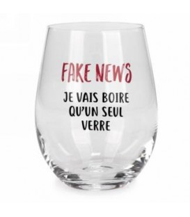 Wine glass without stem-Fake news...french