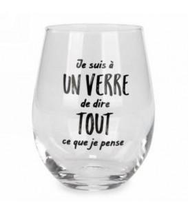 Verre à vin sans pied-Je suis a un verre...