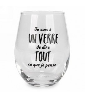 Wine glass without stem-Je suis a un verre...