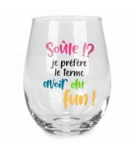 Verre à vin sans pied-Soule!...