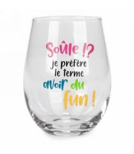 Wine glass without stem-Soule!...