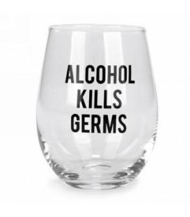 Verre à vin sans pied-Alcohol kills...
