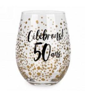 Verre à vin sans pied-50 ans..