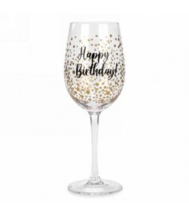 Wine glass-Happy birthday