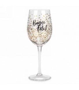 Verre à vin-Bonne fête