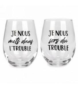 Verre à vin sans pied ensemble de 2 - Trouble...