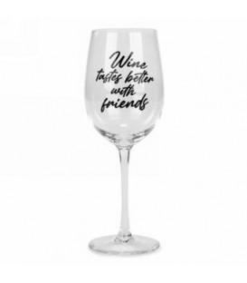 Verre à vin - Wine tastes better....