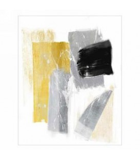 Gray and gold abstract canvas canvas