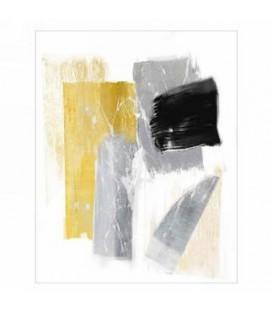 Toile canevas abstrait gris et doré