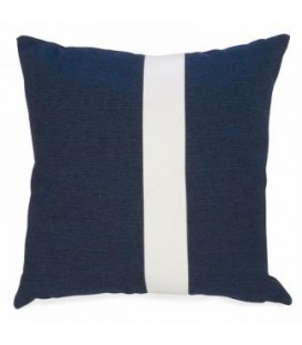 17 x 17 '' Navy Color Block Cushion