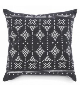 Cushion printed black color 17 x 17 ''