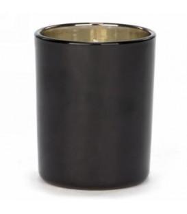Chandelle parfumée en verre noir 3 x 3''