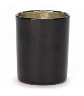 Scented candle in black glass 3 x 3 ''