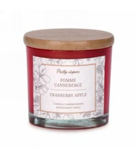 3 '' Red Glass Candle - Apple and Cranberry