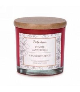 Chandelle en verre rouge 3''-Pomme et Canneberge