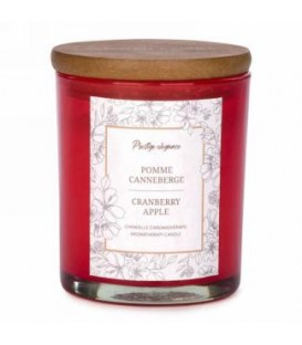 4.5'' Red Glass Candle - Apple and Cranberry