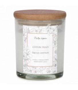 Chandelle en verre blanc 4.5''- Coton Frais