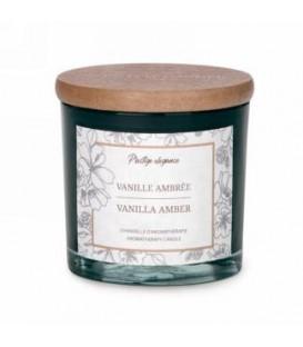 3 '' Gray Glass Candle - Amber Vanilla