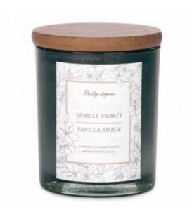 Chandelle en verre gris 4.5''- Vanille Ambrée