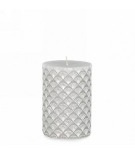 3x4 '' Gray Engraved Pattern Candle