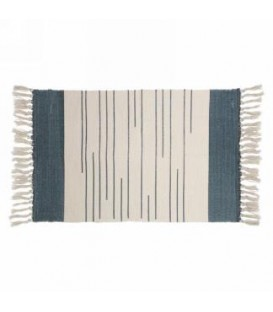 Blue and natural color rug 42 x 23 ''