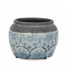 Blue pot glossy finish 4.25 x 4.75 ''