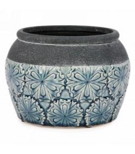 Blue pot glossy finish 5.25 x 6 ''