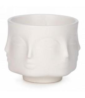 Chandelle parfumée en céramique visage blanc 4.5 x 4''