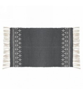 Gray and natural area rug 42 x 23 ''