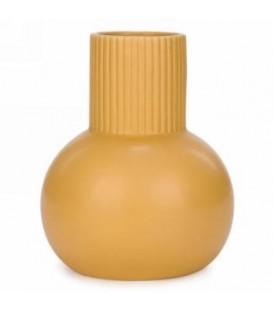 6 x 8 '' Mustard Yellow Ceramic Ball Vase