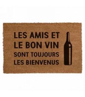 Tapis- Les amis et le bon vin.... 16 x 24''